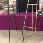 Black and Gold Easels