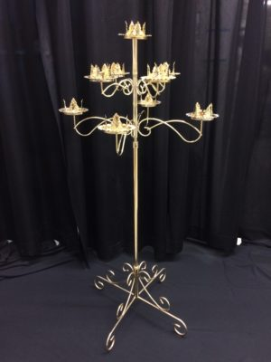 9 light tree, comes in pair, available in brass or nickel