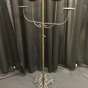 5 light pillar fan, black