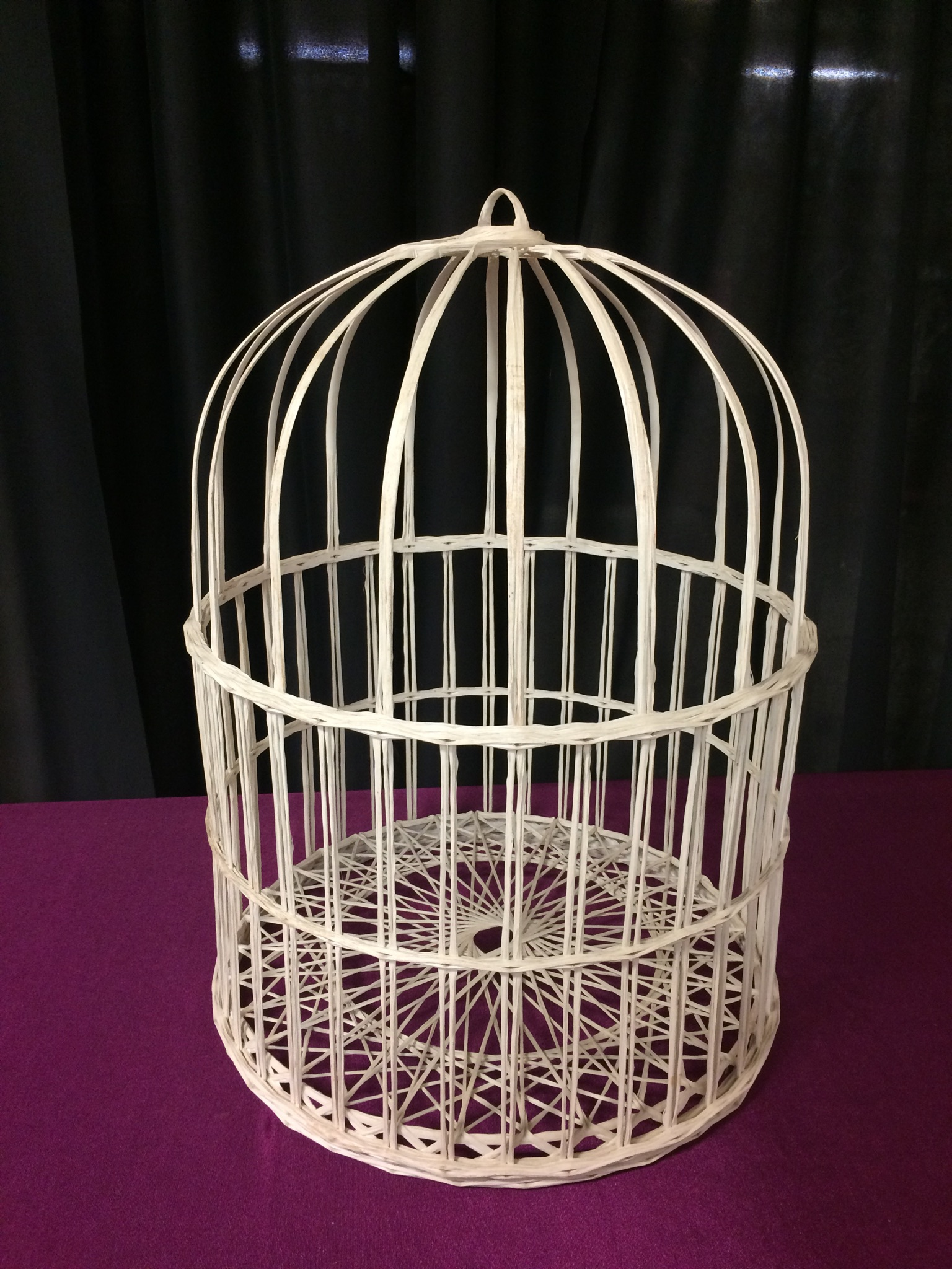 Wicker Bird Cage Card Holder