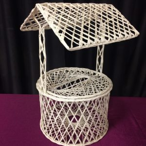 Wicker Wishing Well Card Holder