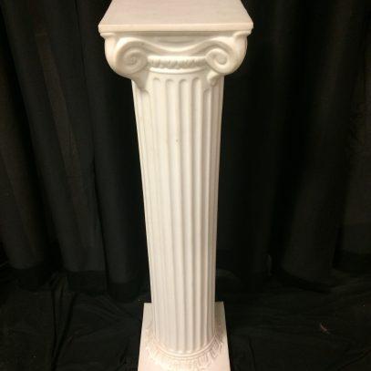 "Column, white 40"""