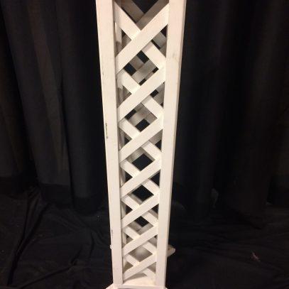 Plant stand, white lattice