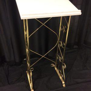 Guest registry stand, brass