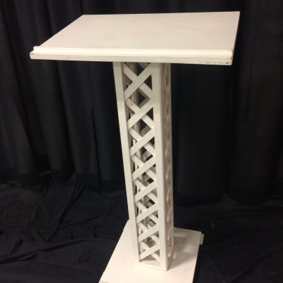 Guest registry stand, wooden