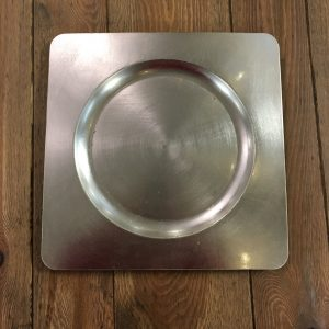 Square Silver Charger