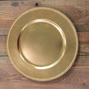 Round Gold Charger