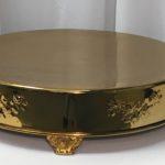 """Cake Plateau: 18"""" Round (Dark Gold) $25.00+"""