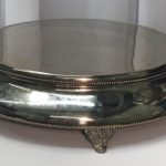 "Cake Plateau: 18"" Round Silverplate (with Roping) $12.00+"