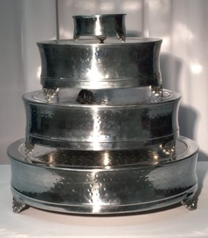"Cake Plateau: 6"", 14"" and 22"" Round Hammered $4.00+"
