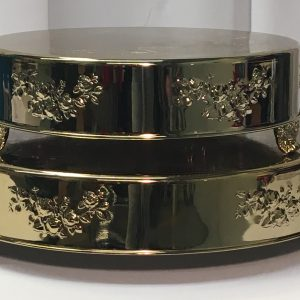 Round Gold Cake Plateau