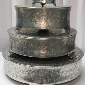 Round Tall Aluminum Cake Plateau