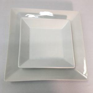 Square White Plate