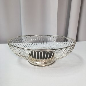 Bread Basket Oval Silver Wire